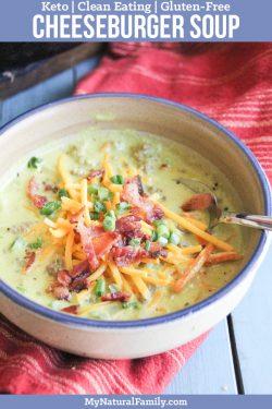 30-Minute Keto Cheeseburger Soup Recipe