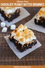 Gluten-Free Chocolate Peanut Butter Brownies with Marshmallow Topping