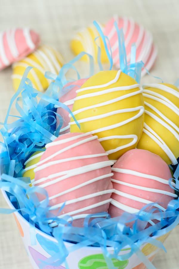 Gluten-Free Easter Egg Cookie Dough Truffles