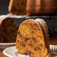 Gluten-Free Pumpkin Chocolate Chip Cake