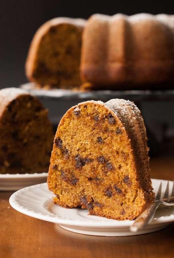 Gluten-Free Pumpkin Chocolate Chip Cake