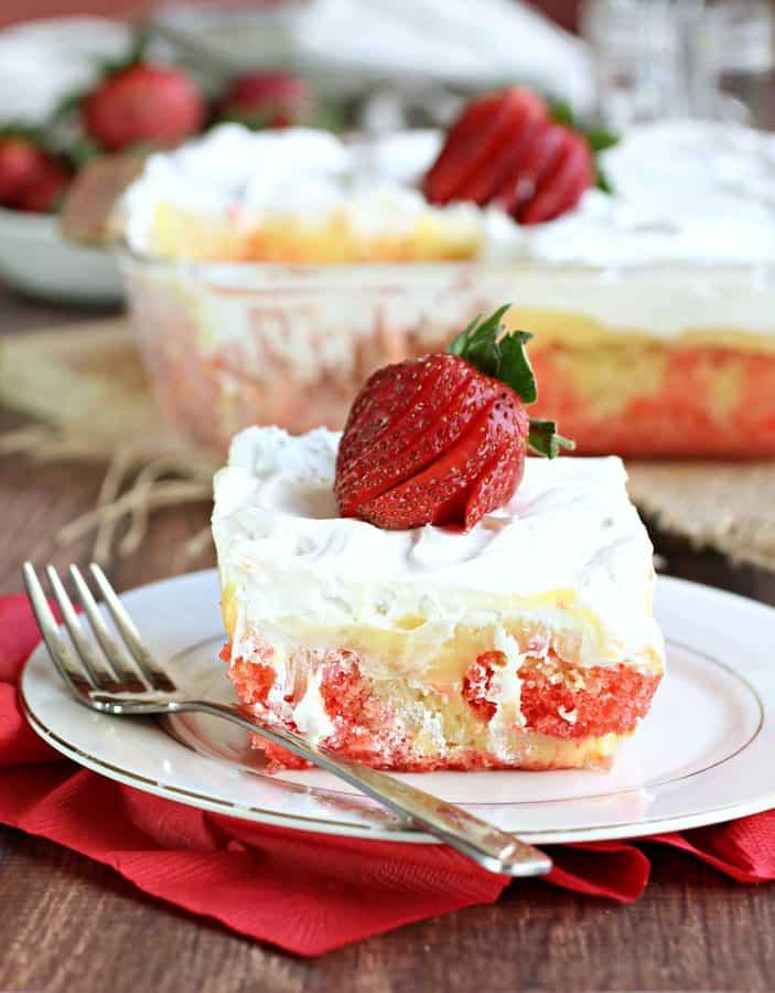 Gluten-Free Strawberry Poke Cake Recipe