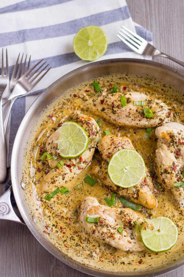 Keto Coconut Lime Chicken Recipe