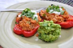 Turkey and Quinoa Stuffed Peppers