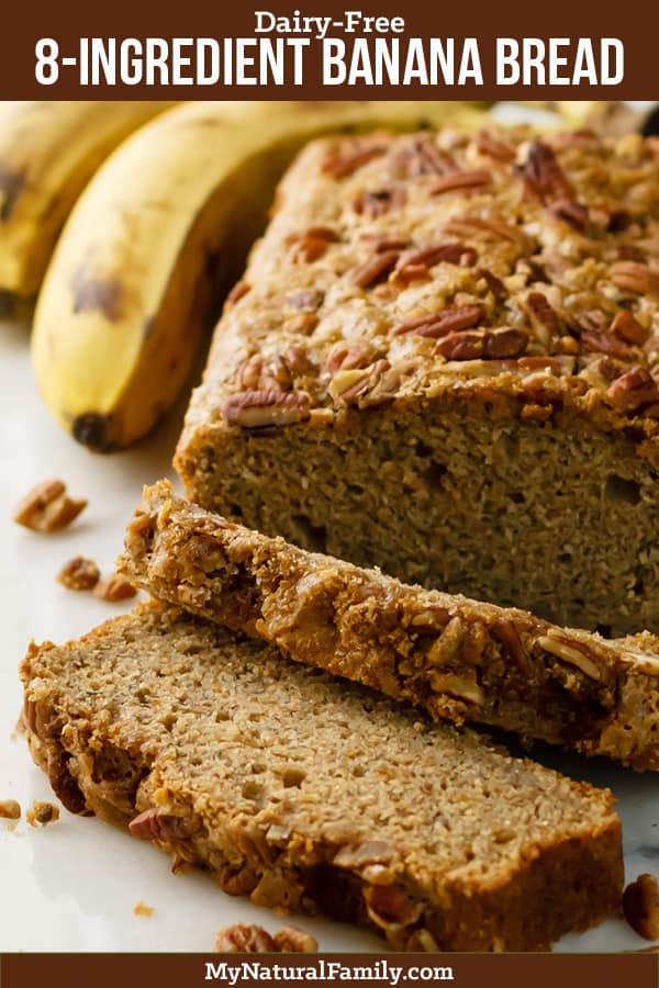 Quick Easy Dairy Free Banana Bread Recipe
