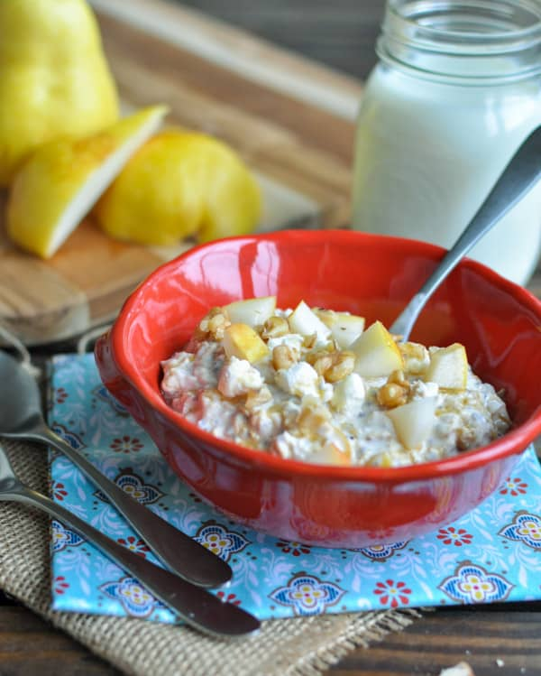 Goat Cheese and Pear Overnight Oats Recipe