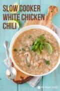 healthy crockpot white chicken chili