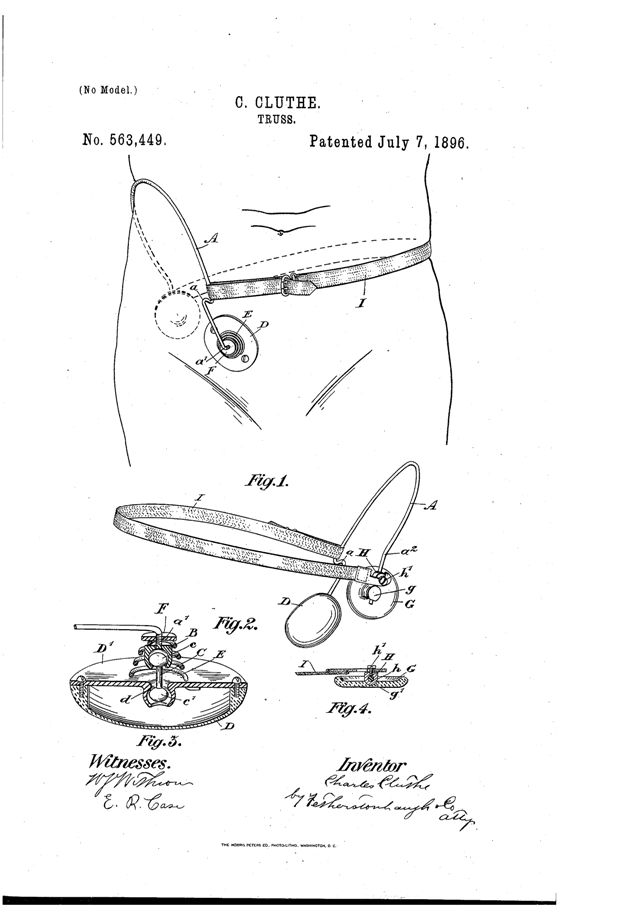 Patent Drawings for Hernia Truss