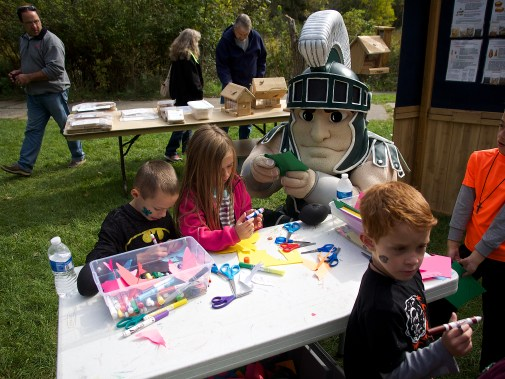Sparty joins in on the fun