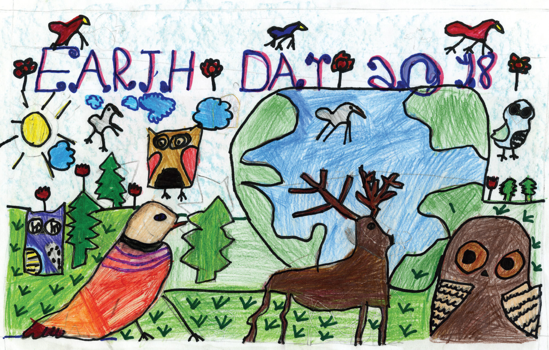 Earth day greeting cards 2018 m4hsunfo