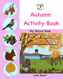 Autumn nature activity book