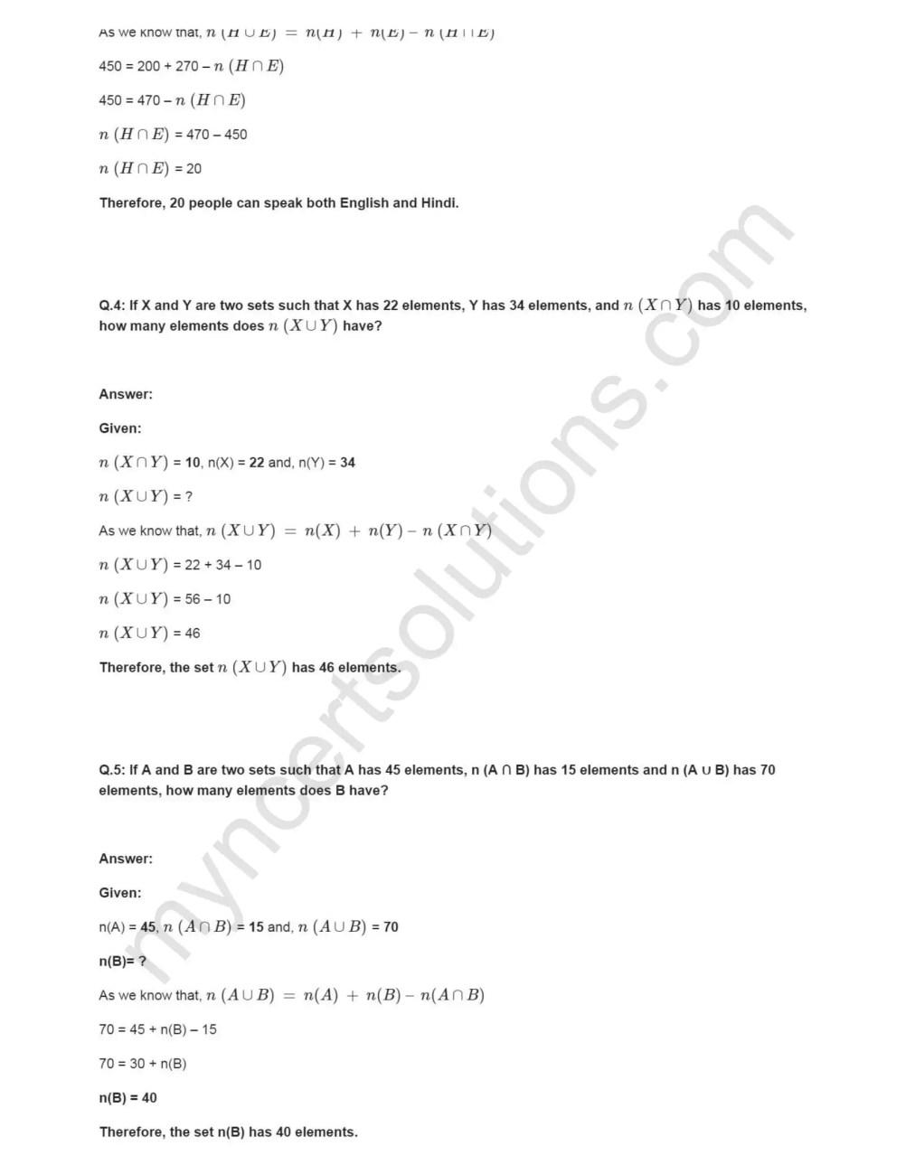 NCERT Solutions For Class 11 Maths Chapter 1 Ex 1 6