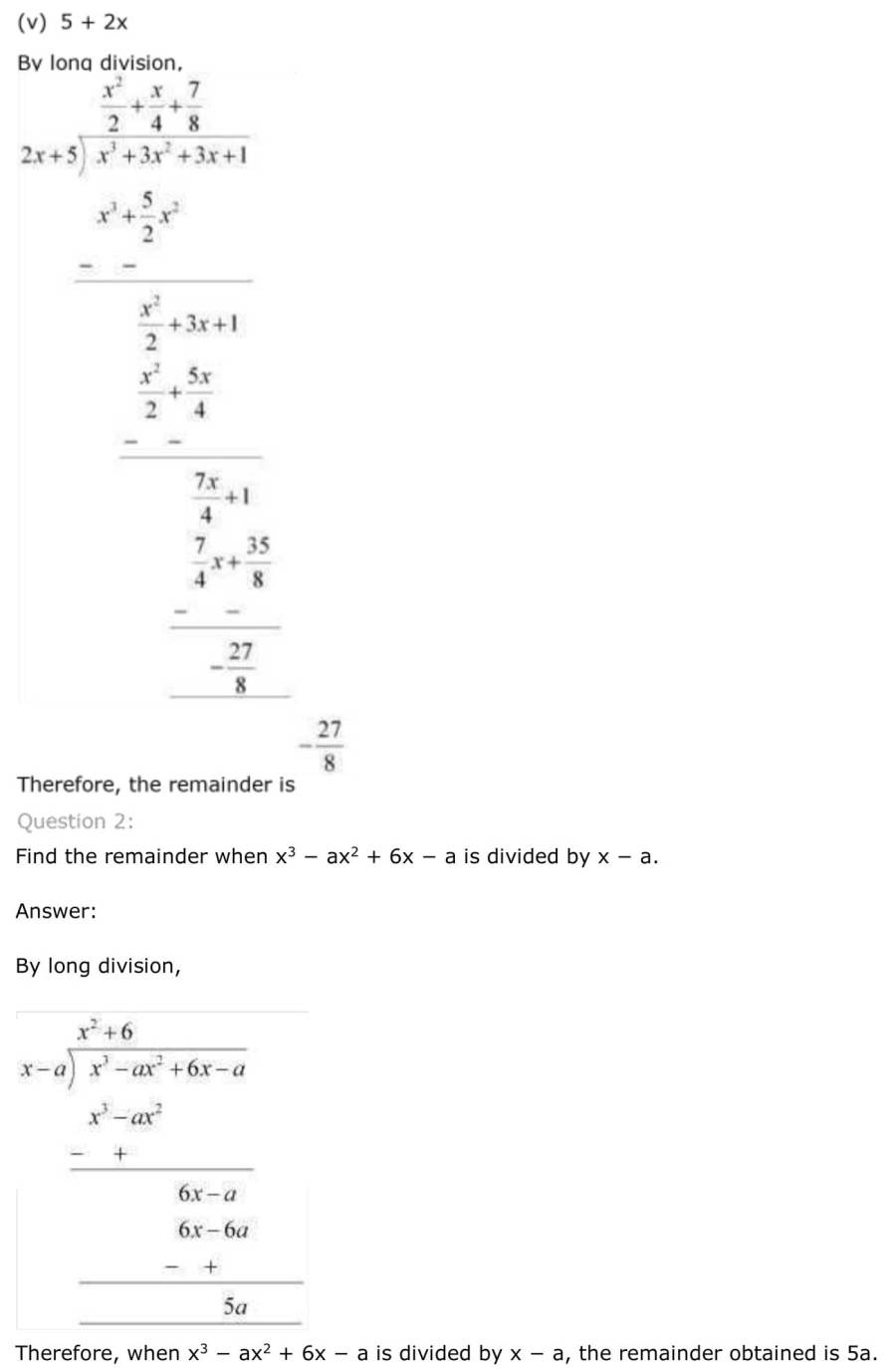 ncert solutions for class 9 maths chapter 2 polynomial 14