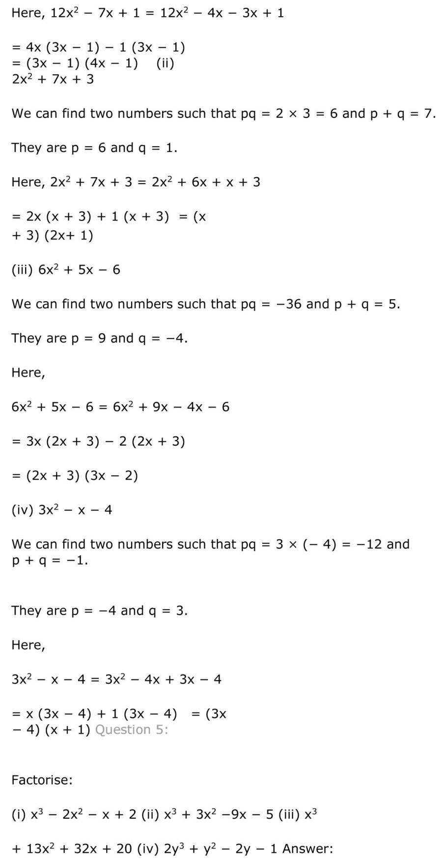 ncert solutions for class 9 maths chapter 2 polynomial 20