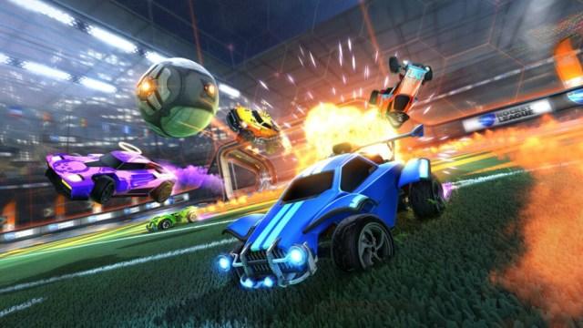 Rocket League games play screenshot Top Couch Co-Op Games