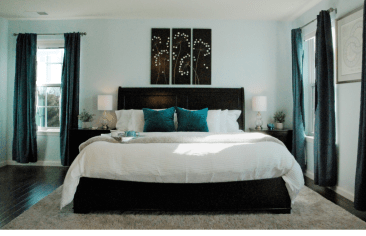 Occupied Master Bedroom Staging