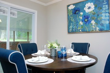 Picture of vacant dining room staging