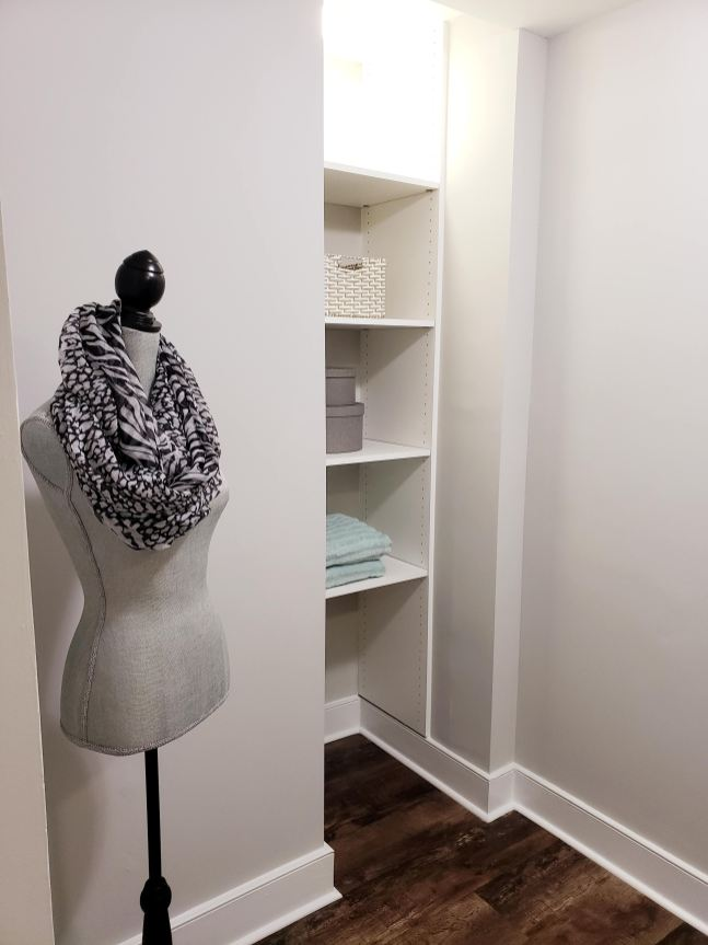 Picture of walk-in closet staged for sale