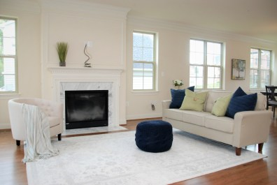 Picture of family room home staging for new construction