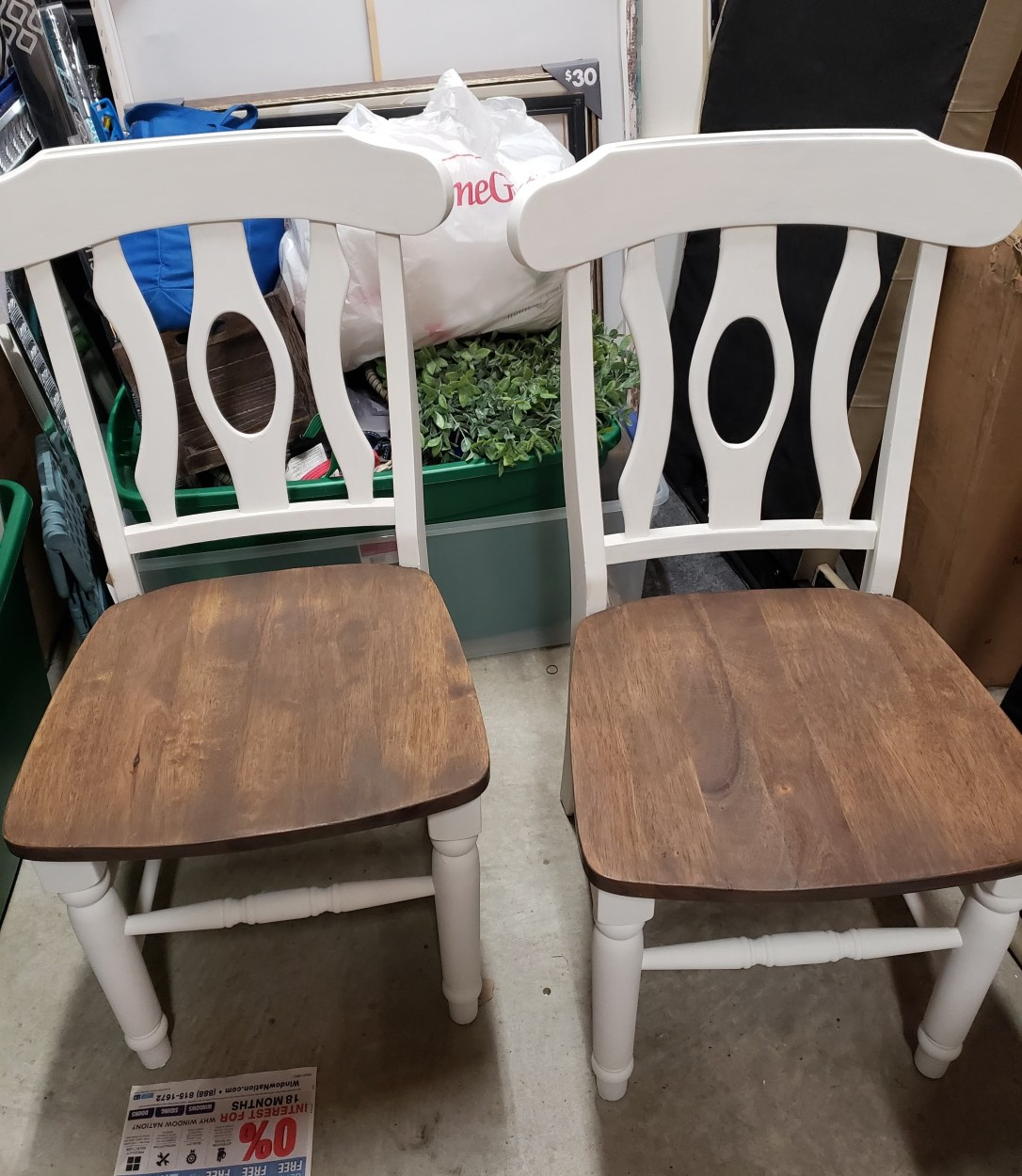 keyhole back chairs painted with farmhouse white chalk paint
