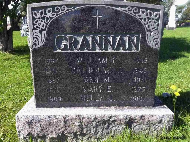 Mary Grannan headstone