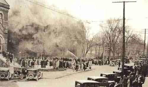 normal school fire 1929