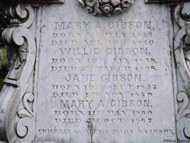 "Alexander ""Boss"" Gibson Headstone"