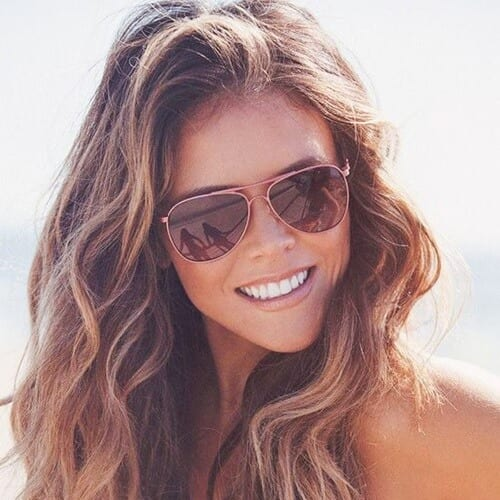 Beach Brown Hair Color