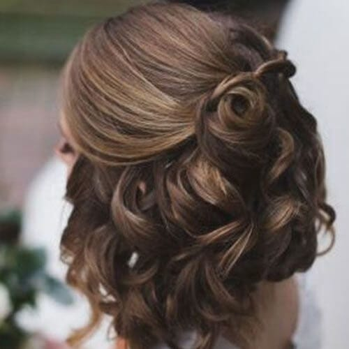 Bridal Hairstyle for Chocolate Brunettes