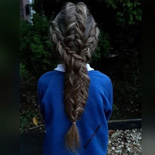 braided long hair little girls hairstyles