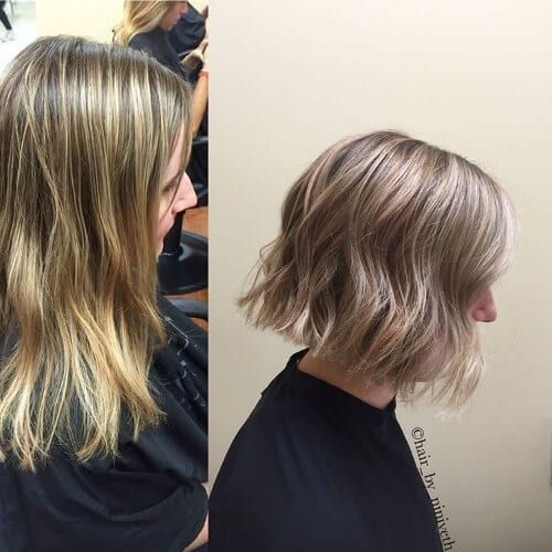 copper highlights on dirty blonde hair