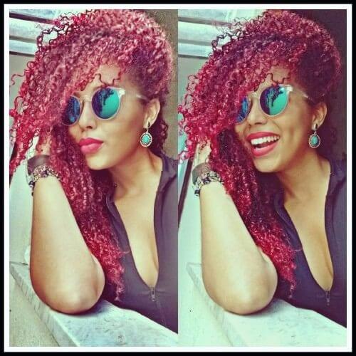 curly Dark Red Hair