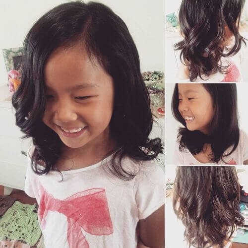 layered hairstyle for little girls