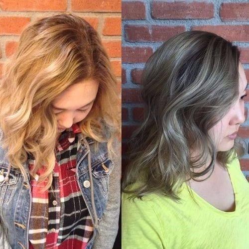 look change orange to ash blonde hair