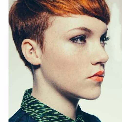 Short Copper Red Hair