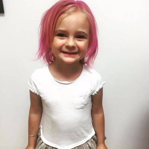 pink hair for little girls