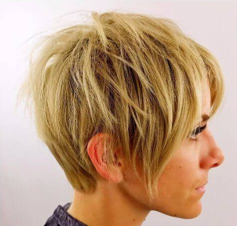 short layered hairstyles for thin hair blonde pixie cut