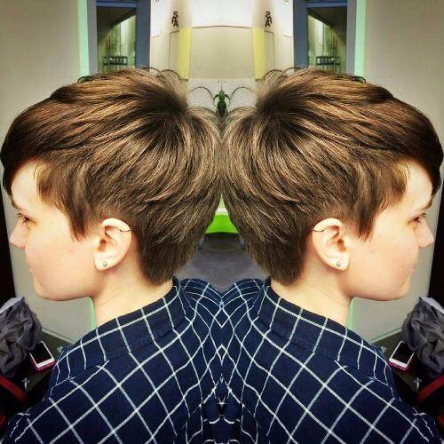 short caramel hair