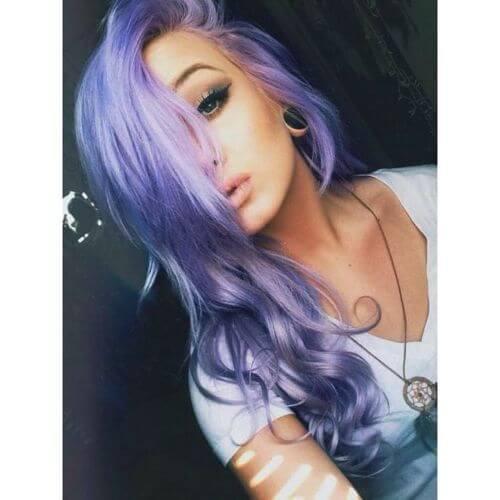 wavy purple hair