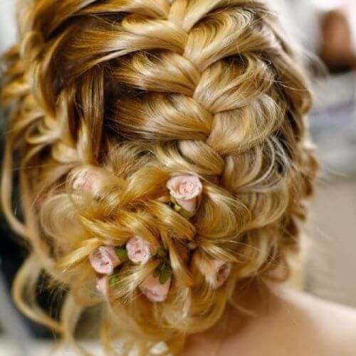 dutch braids updo