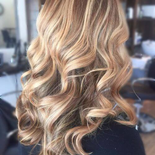 45 blonde highlights ideas for all hair types and colors dirty blonde balayage highlights on long wavy hair urmus