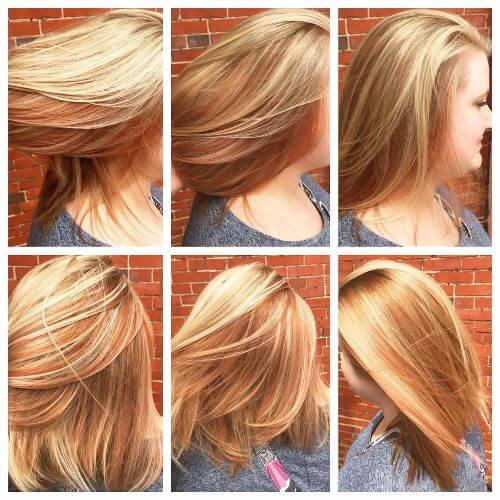 45 blonde highlights ideas for all hair types and colors red hair with blonde balayage pmusecretfo Image collections