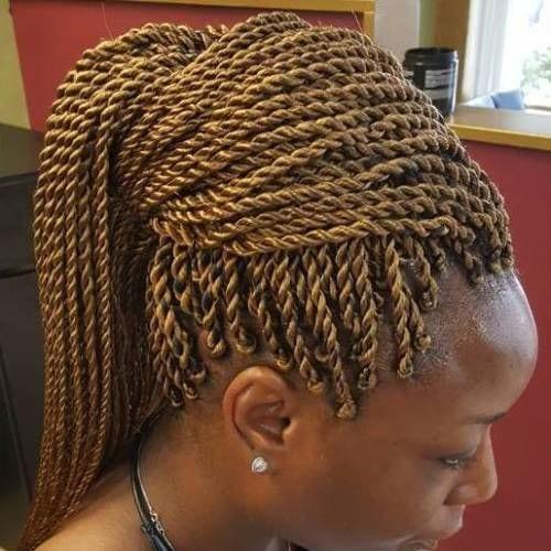 Golden Blonde Senegalese Twist braids