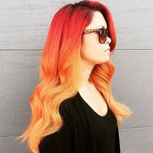 45 blonde highlights ideas for all hair types and colors blonde ombre on tangerine red hair pmusecretfo Choice Image