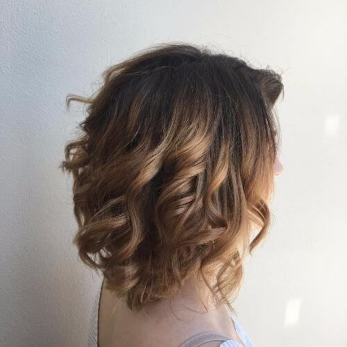 caramel balayage on short caramel hair