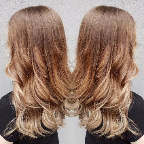 light caramel balayage highlights