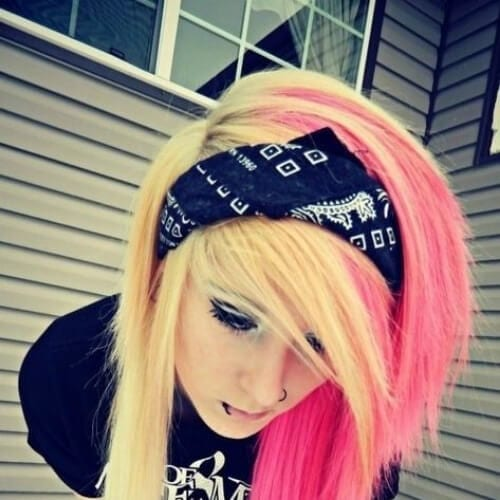 bangs long emo hairstyles for girls
