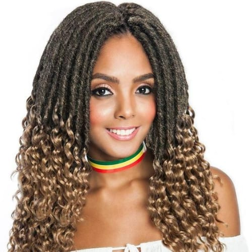 half done twist braids