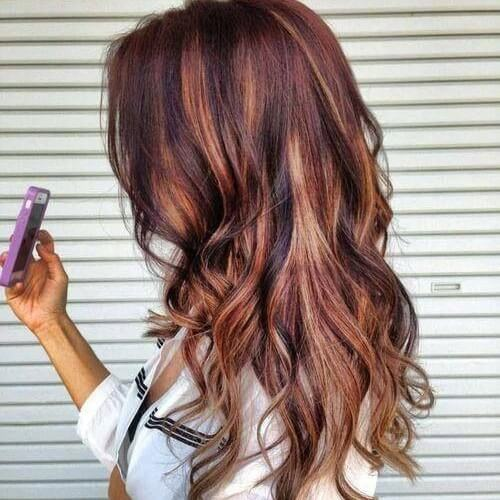 30 red brown hair ideas perfect for a remarkable style copper and caramel highlights on red brown hair pmusecretfo Image collections