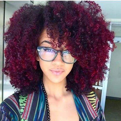 afrfo burgundy hair